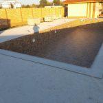 murovaný bazén s fóliou
